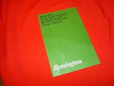 Remington 870 pump action shotgun Instruction Manual