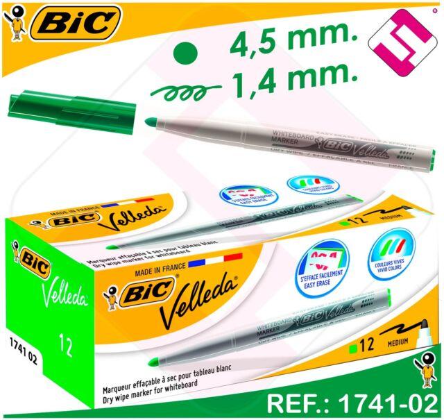 MARKER BIC VELLEDA GREEN INK ACETONE TIP MEDIUM TAPERED FOR BOARD WHITE