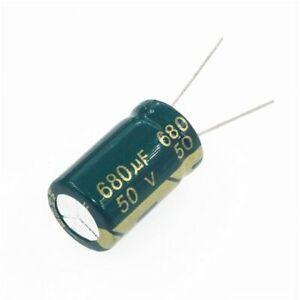5PCS-50V-680uF-50Volt-680MFD-105C-Aluminum-Electrolytic-Capacitor-13-20mm