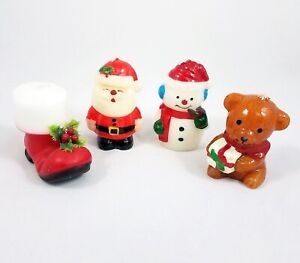 Vintage Christmas Candles.Details About Vintage Christmas Candles Lot Decorations Santa Boot Snowman Teddy Bear Unburned