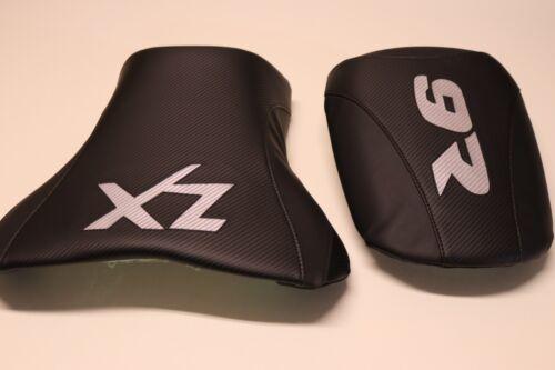 KAWASAKI ZX9 NINJA 98 99 00 01 BLACK//SILVER FRONT /& REAR CUSTOM SEAT COVERS
