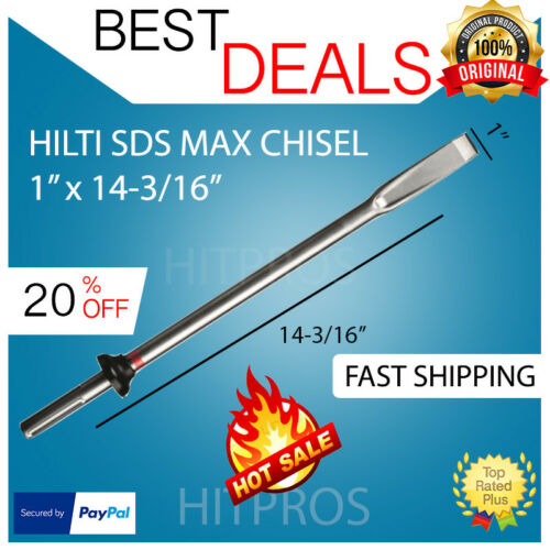 """FAST SHIPPING HILTI FLAT SDS MAX CHISEL 1/"""" X 14-3//16/"""" DURABLE BRAND NEW"""