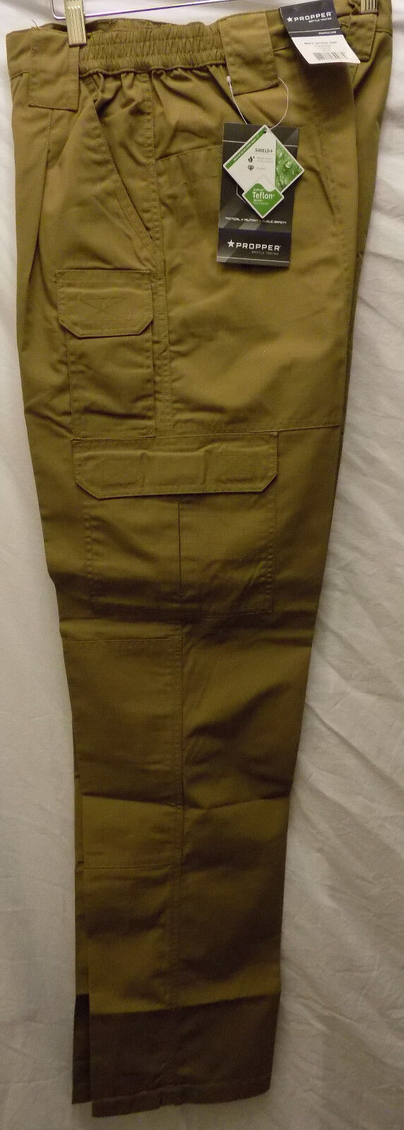 New Mens 30 x 36 Coyote Propper Men's Tactical Pants NO BELT Ripstop Teflon