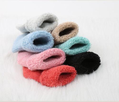 5 Pairs Girls Boys Kids Child Wool Cashmere Solid Thicken Warm Terry Socks 0-7Y
