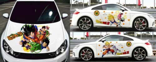 Dragon Ball Z Vegeta Goku Anime Car Door Hood Vinyl Decal Sticker fit any car