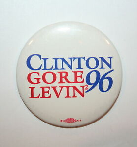 1996 Clinton /& Gore President Campaign Button Political Pinback Pin Kentucky