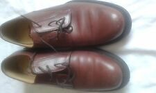 MENS CLARKS REDDY BROWN LACE UP SHOES SIZE 10