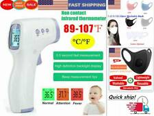 Infrared Thermometer Digital Lcd Forehead No Touch Body Adult Temperature Gun Us