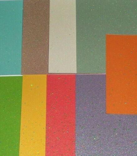 Green Purple Blue Yellow Glitter 9pcs 6X6 CARDSTOCK Ivory Red