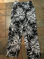 Woman's Venezia Black And White Pants Size 14/16 X 29