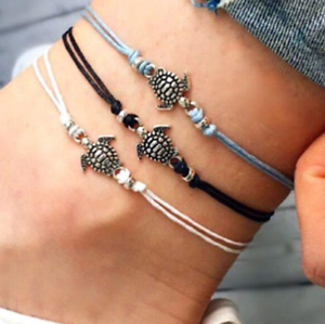 1pc-Womens-Turtle-Ankle-Bracelet-Silver-Anklet-Foot-Chain-Beach-String-Kids-UK