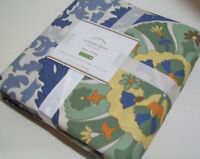 Pottery Barn Blue Multi Colors Corinne Cotton King Duvet Cover New