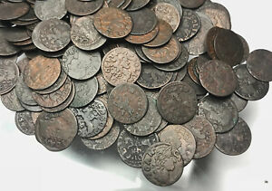 Poland-Lithuania-Solidus-Szelag-1660-1665-Copper-Coin-1Pc-From-Lot-Shown