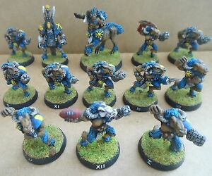 Details About 1994 Chaos Bloodbowl 3rd Edition Citadel Pro Painted Beastmen Team Beastman Broo