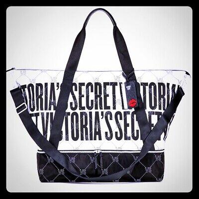Nwt Victoria S Secret Vs Monogram Weekender Tote Duffle Bag W Luggage Tag Rv 98 667548124645 Ebay