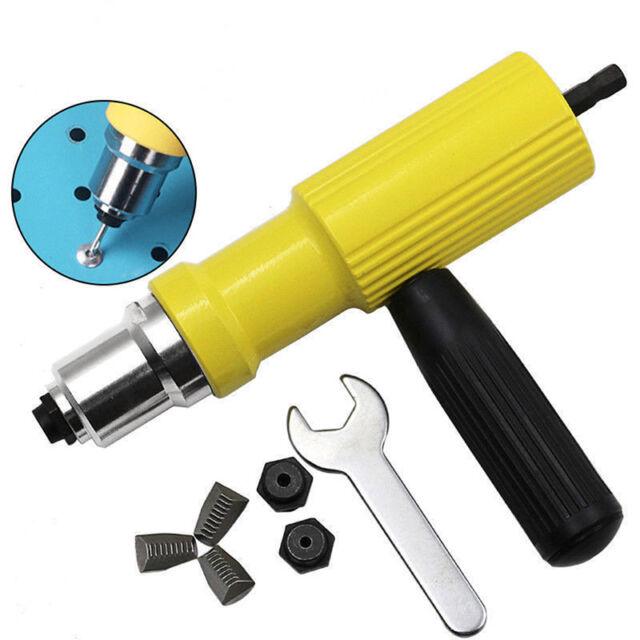 Rivet Gun Adaptor For Cordless Drill Electric Nut Riveting #Tool Riveter InBLCA