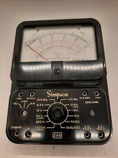 Vintage Simpson 260 Analog Volt Ohm Meter Face Only Parts Gauge For Restoration