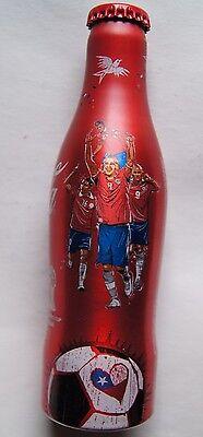 Chile 2014 aluminum bottle Coca Cola World Cup Soccer FIFA 2014 Arturo Vidal
