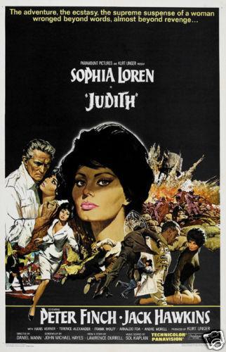 Judith Sophia Loren Vintage movie poster