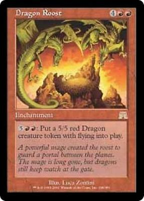 DRAGON ROOST Onslaught MTG Red Enchantment RARE