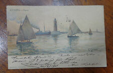 CARTOLINA LIVORNO FARO  VIAGGIATA DEL 1901 SUBALPINA BBB