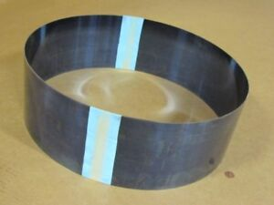 "Blue Tempered Spring Steel Shim 0.006/"" x 6.00/"" x 50/"" Length"