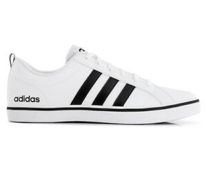 adidas neo men s vs pace leather shoe white black blue ebay