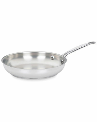 """Cuisinart Chefs Classic Stainless Cookware 8/"""" Skillet Cool Grip Handle New"""