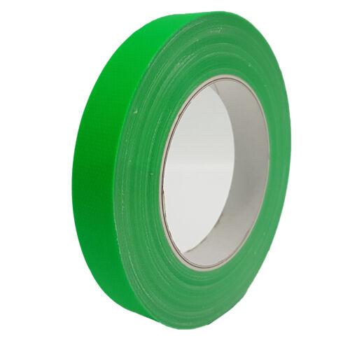 4x Neon Gaffa Tape Gewebeband 12mm x 25m Klebeband matt UV Fluoreszierend