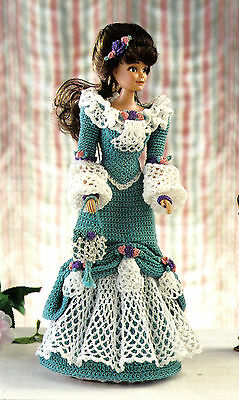 PRETTY Theater Gown Fashion Doll Outfit/Crochet Pattern INSTRUCTIONS ONLY