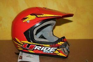 CASQUE-Moto-Cross-U-Ride-URIDE-For-Kids-Junior-Rouge-M-51-52-cm