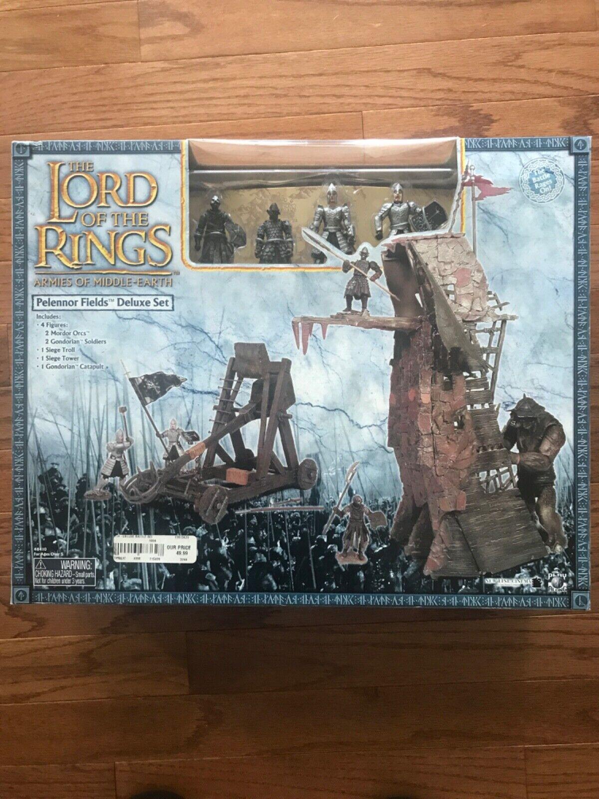 Signore degli Anelli Lord of the Rings PELENNOR FIELDS DELUXE SET con Figure MIB
