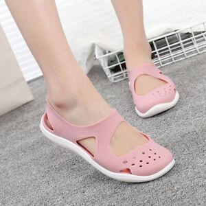 Details about Women Soft bottom Jelly Sandals Non slip Hollow Beach Shoes Plastic Slipper Size