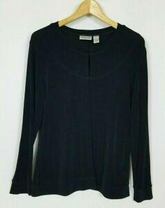 Chico's Travelers Women's 1 (Medium) Black Long Sleeve Stretchy Knit Jacket