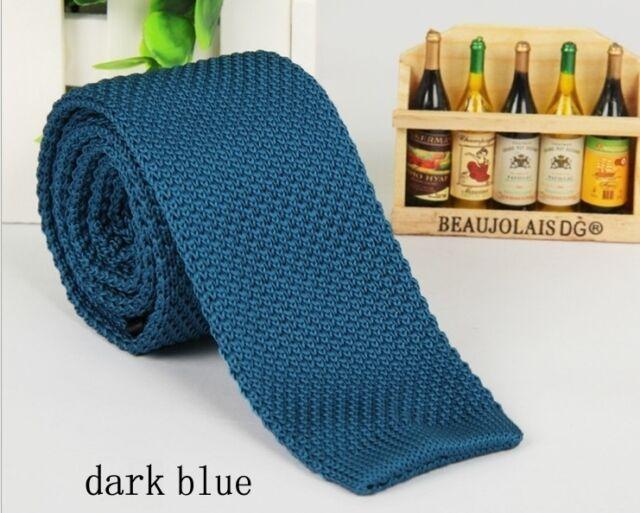 Men's Fashion Solid Tie Knit Knitted Tie Necktie Narrow Slim Skinny Woven