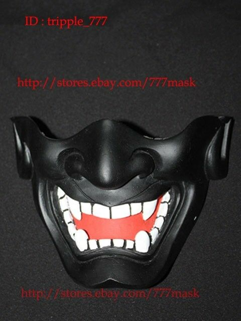 MásCochea de Paintball Airsoft media Cochea Táctico Diablo Hannya Noh Kabuki japonés MA124