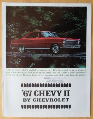 CHEVROLET CHEVY II orig 1967 USA Mkt Sales Brochure Catalog Nova Sport 100 etc