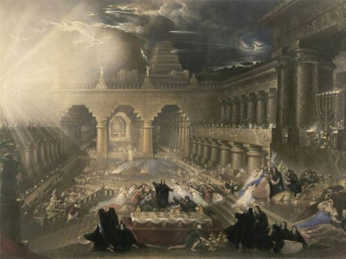 JOHN MARTIN BRITISH BELSHAZZARS FEAST OLD ART PAINTING POSTER PRINT BB5937A