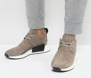 reputable site 49e52 f0c28 Image is loading Adidas-Originals-NMD-C2-Taupe-Brown-Suede-Boost-