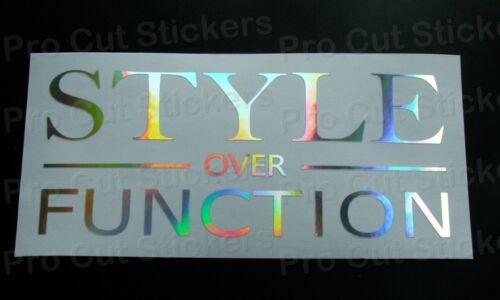 Stil über Function Silber Hologramm Neo Chrom Sticker Aufkleber Szene Geringer