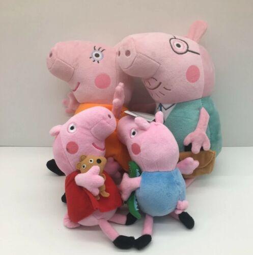 4 Teiliges Plüsch Figuren Set Schweine Familie Stofftiere George Wutz Mama Set