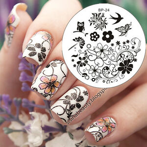 BORN-PRETTY-BP24-Nail-Art-Image-Stamping-Plate-Template-Spring-Flower-Swallow