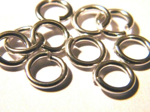 "5x-5mm Solid Sterling Silver Jump Rings /""Heavy/""-Open-Findings-Jump Ring"