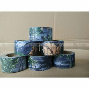 10m*5cm Camo Camouflage Stealth Duct Tape Wrap Gun Hunting Camping Outdoor