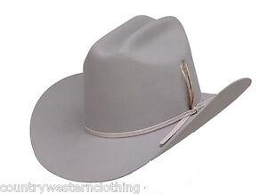 USA Dallas Hat Silver Sand Wool Felt Like JR Ewings Larry Hagman ... 60cd3f23b