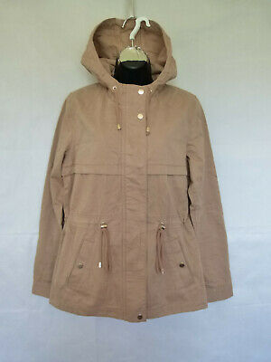 online store 3c1f3 62aed Divided H&M Women's Light Pink Short Parka Coat Jacket Hooded Cotton Size 6  | eBay