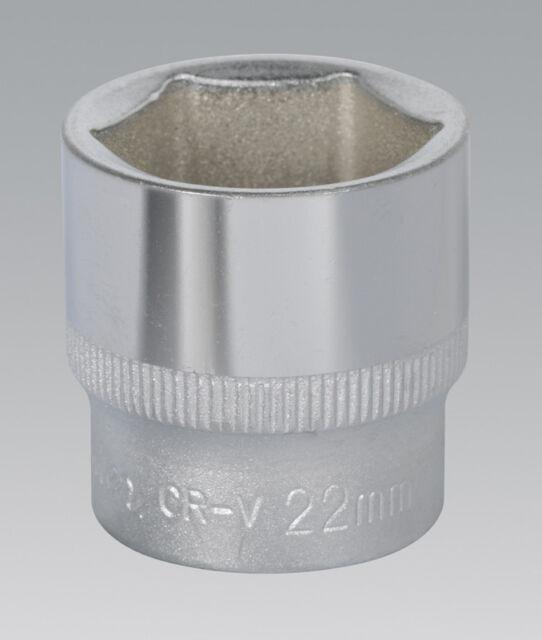 "Sealey S3822 WallDrive® Socket 22mm 3/8""Sq Drive"