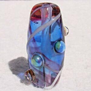 RIGA-Handmade-Art-Glass-Focal-Bead-Flaming-Fools-Lampwork-Art-Glass-SRA