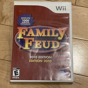 Family Feud 2010 Edition Wii (Nintendo Wii, 2009) COMPLETE CIB Manual FAST SHIP
