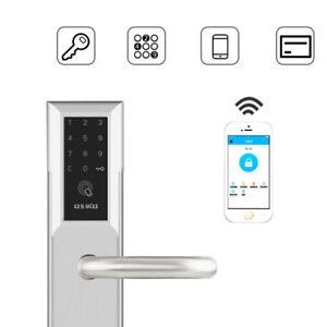 6V-WiFi-Bluetooth-Cipher-Remote-Smart-Door-S-S-Lock-APP-Password-2-Card-2-Key